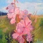 цветы кипрей на картине русского художника