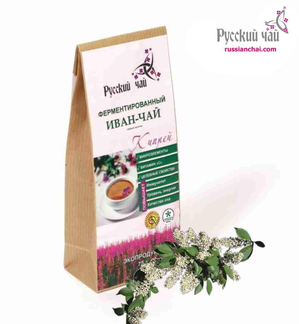 Иван-чай с листьями и плодами черемухи 75г.