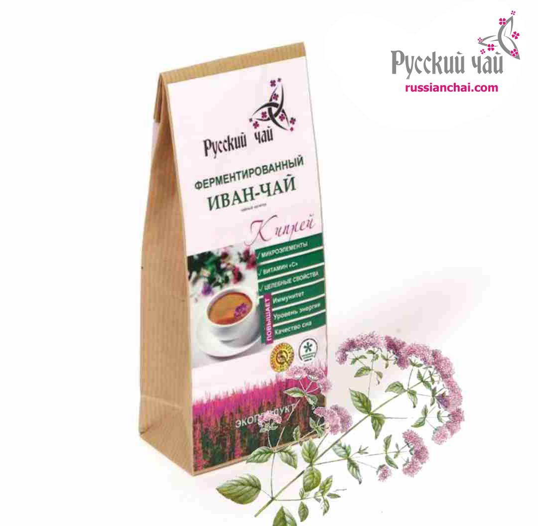 Иван-чай с листьями и цветами душицы 75г.
